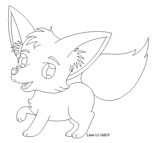 Fox lineart by chili19