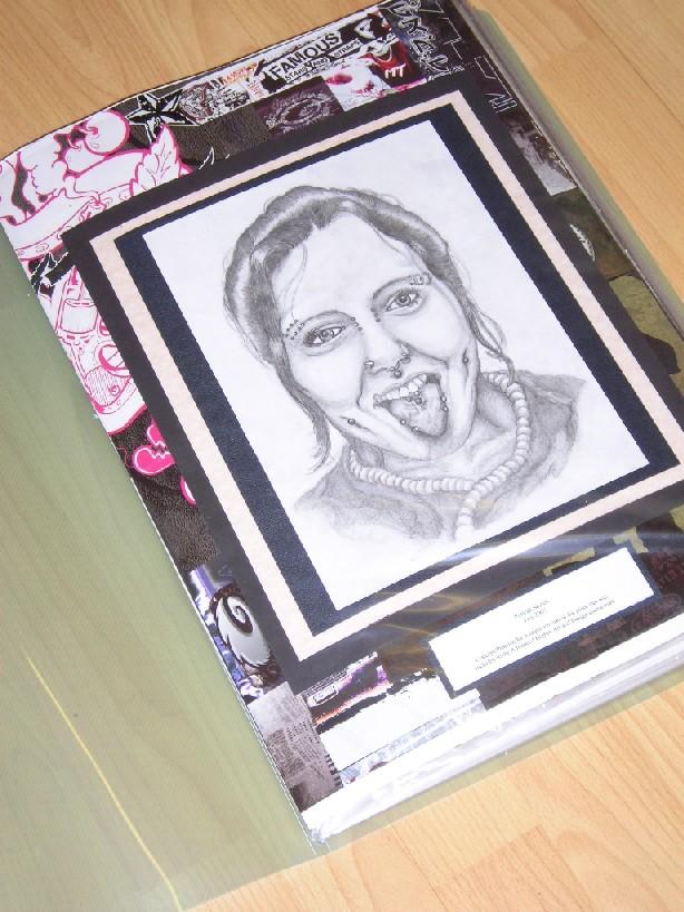 Pierced woman portrait