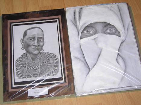 Ethnic portrait display