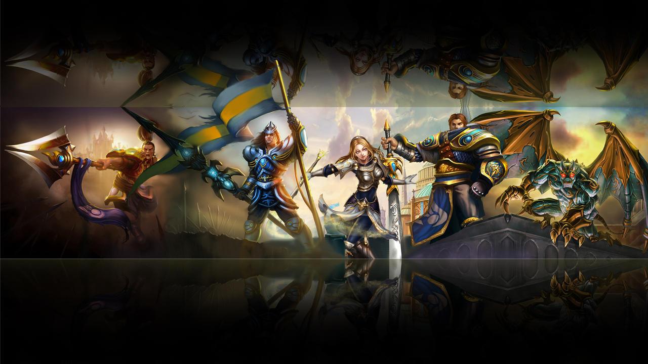 League of legends wallpaper - demacia (black) by Desorienter