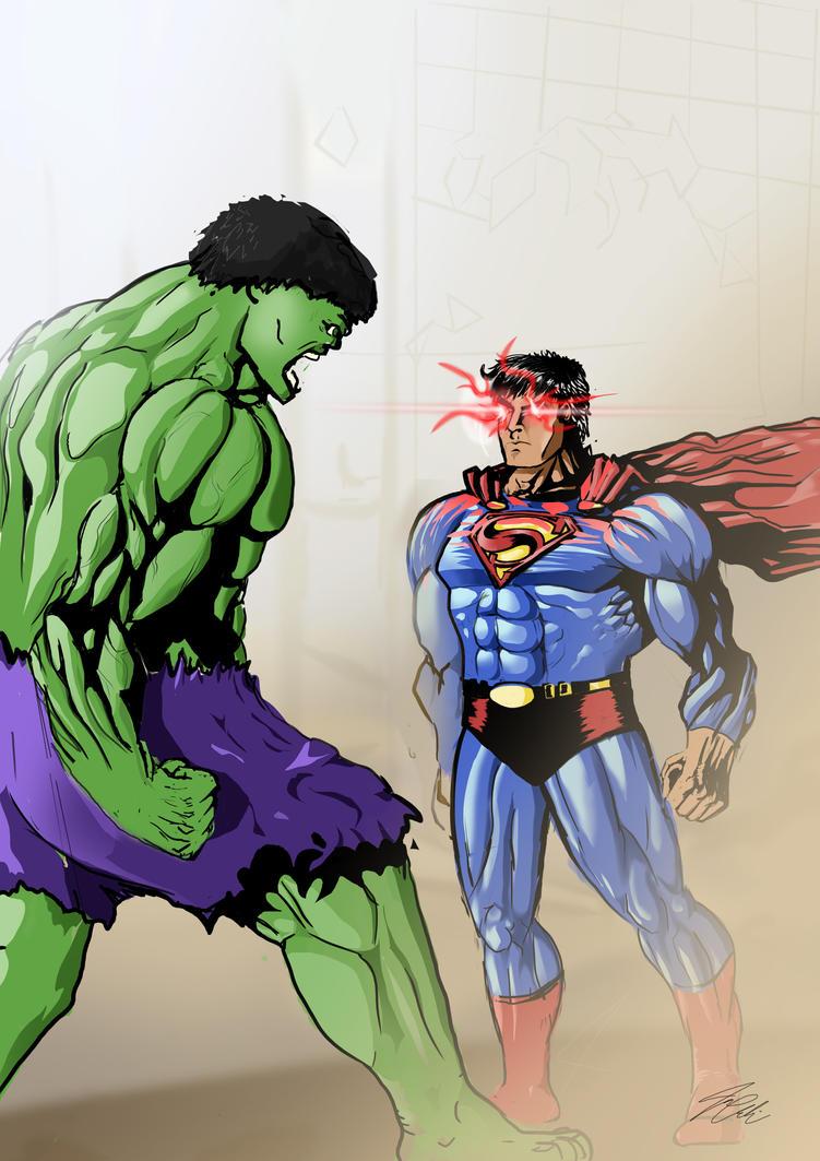 Man of steel vs Hulk by Desvitio on DeviantArt