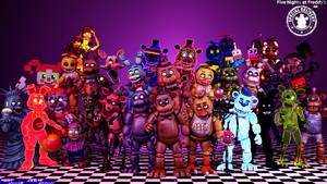 FNaF AR Models that has been ripped so far