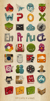 Artcore icons