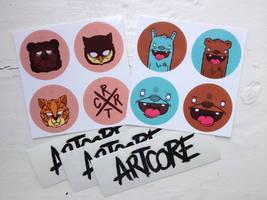 Artcore sticker fanpack