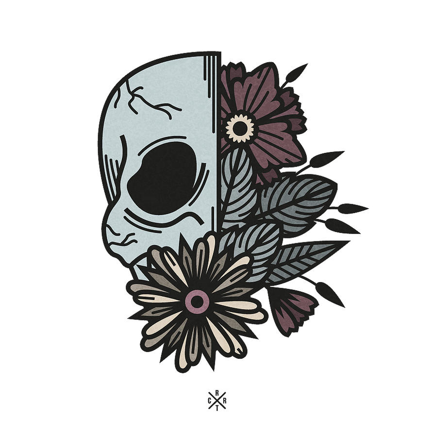 Skull by artcoreillustrations