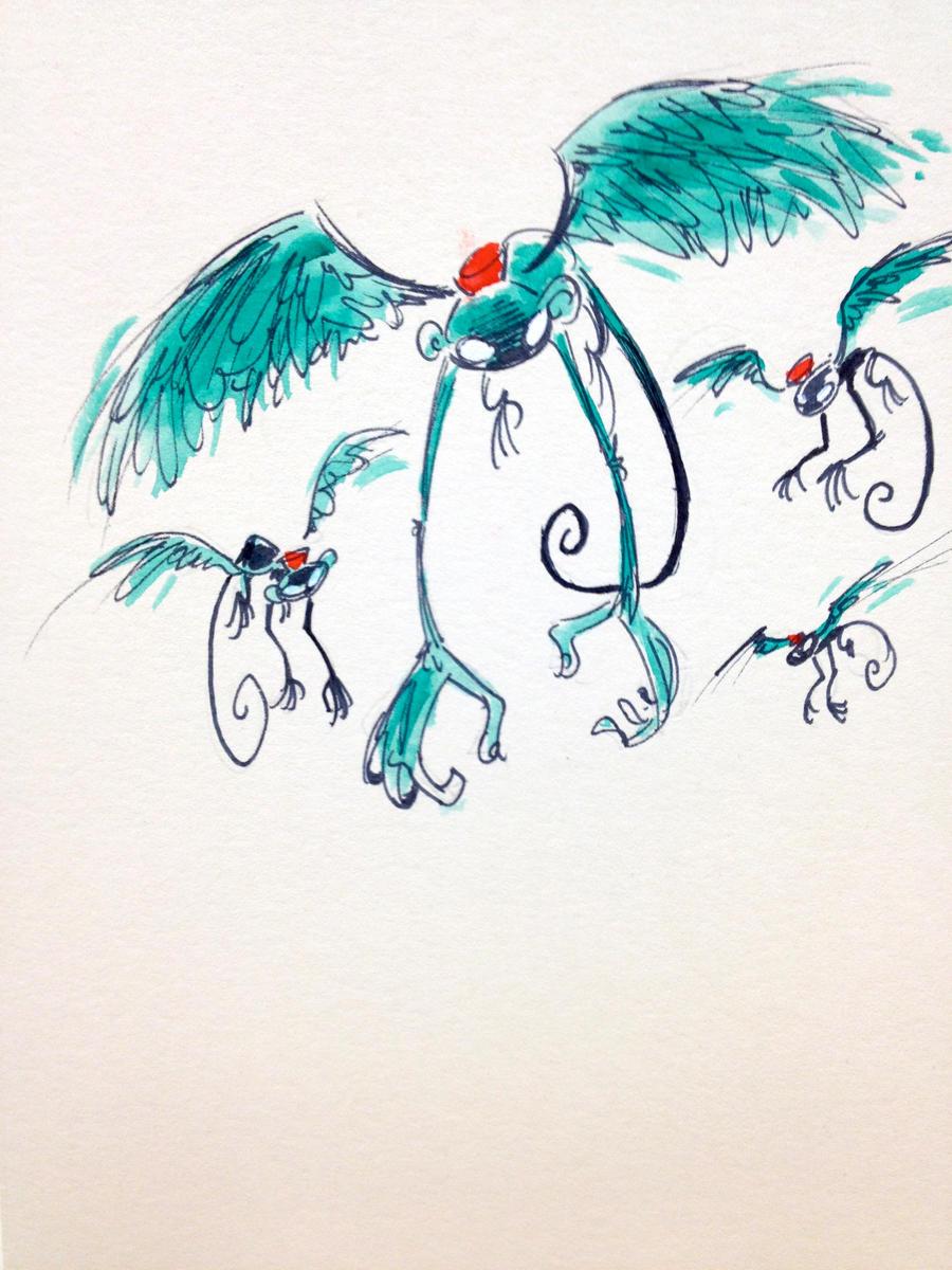 flock of monkeys by mr dna on deviantart