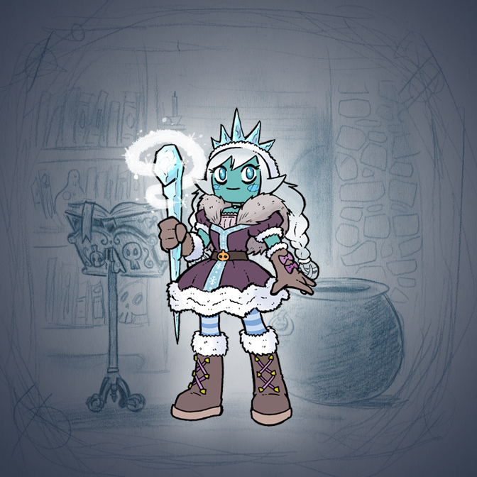 Angela's Magic Lesson - Winter Princess by Mr-DNA