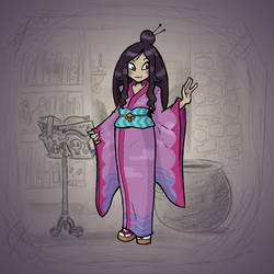 Angela's Magic Lesson - Young Woman of Edo by Mr-DNA