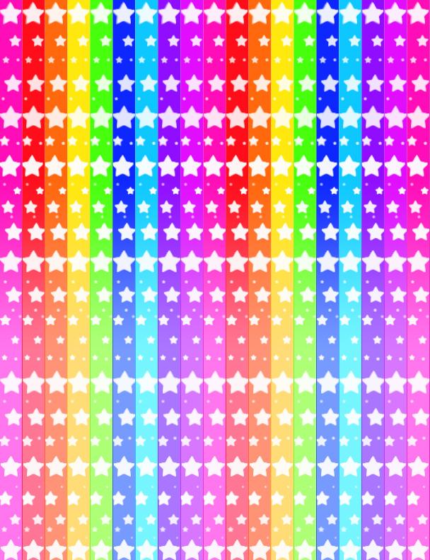 Rainbow Star Rainbow star paper by