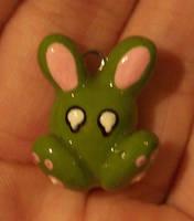 Green Sad Zombie Bunny by jnsun