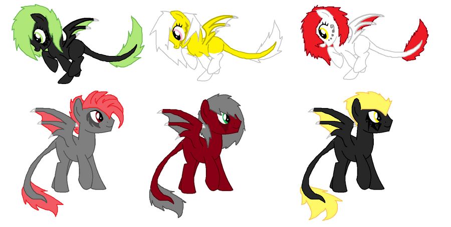 Daemon Pony Shadow Mystery Adopts - CLOSED by iPandacakes