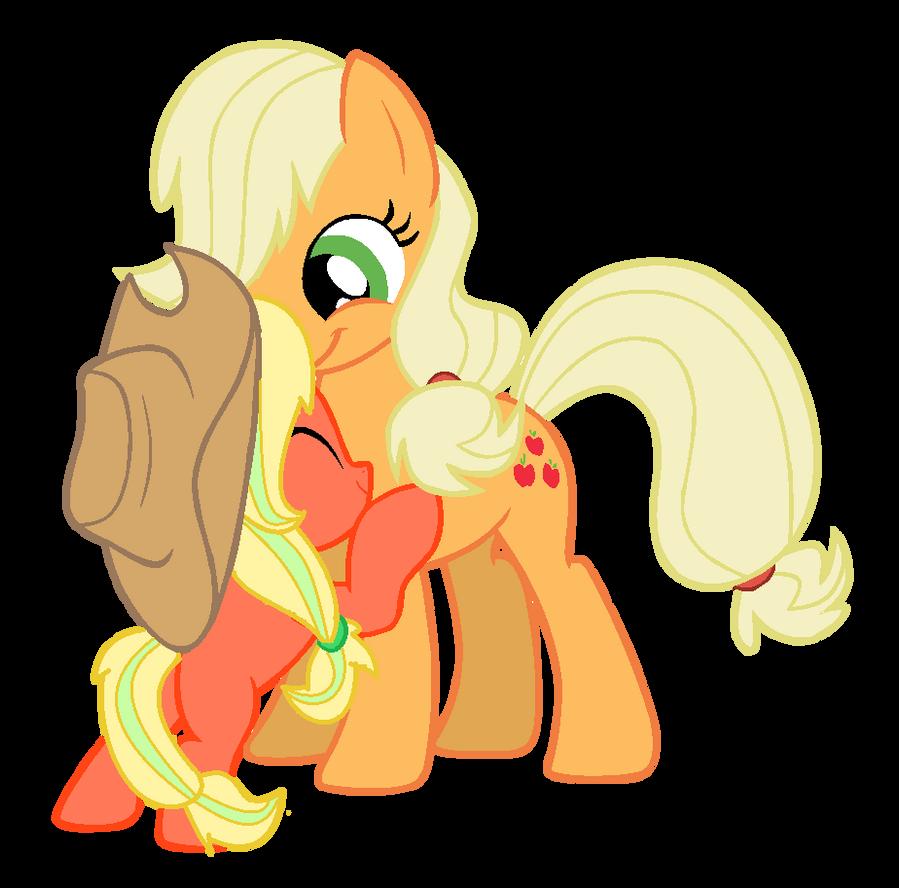 My little pony caramel and applejack