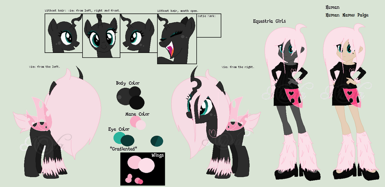 Pomf: Reference Sheet *New Human Name By IPandacakes On