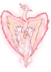 Daily sketch - heart of flames by PowerOfSin