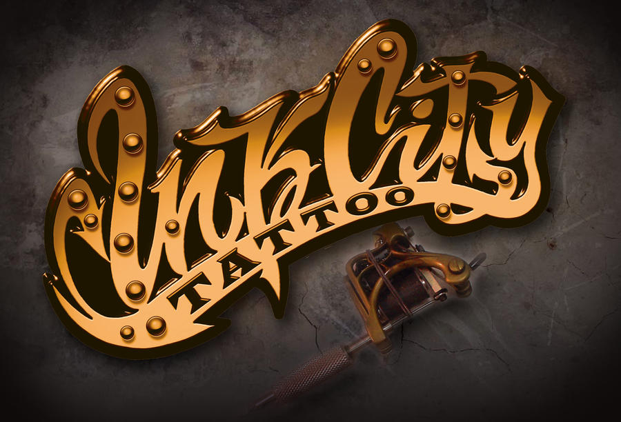 ink city tattoo west coast style logo by crunk graphics on deviantart. Black Bedroom Furniture Sets. Home Design Ideas