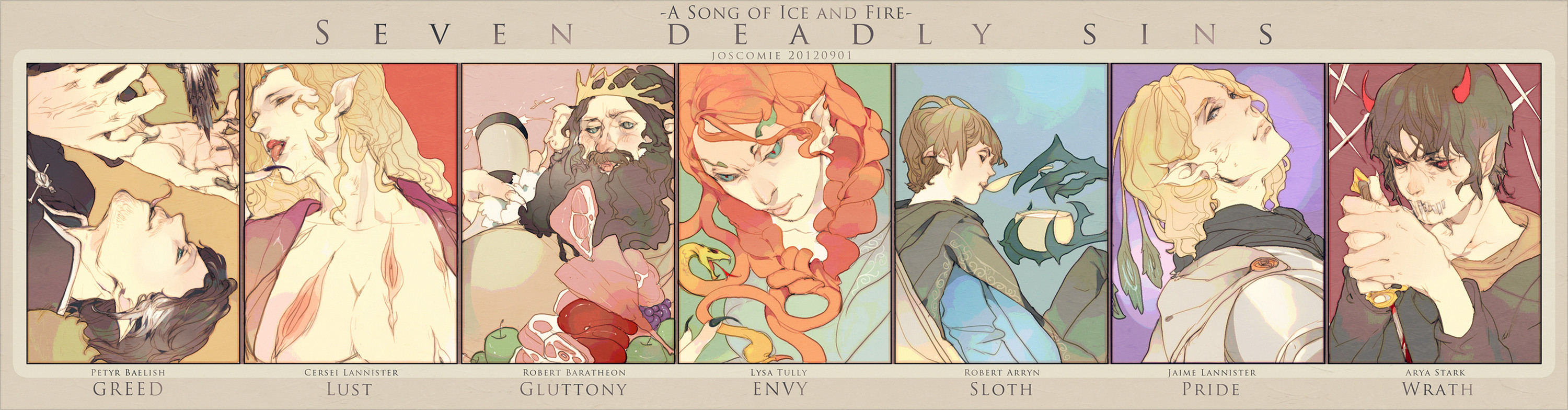 [ASOIAF]seven deadly sins by Wavesheep