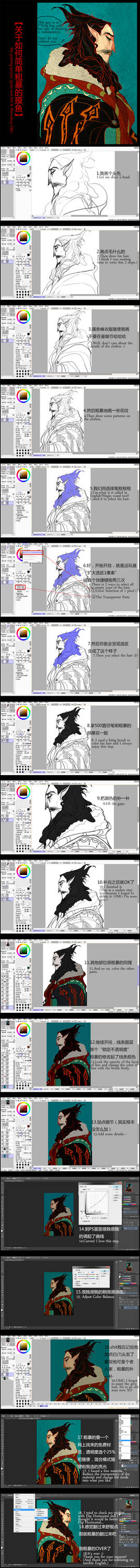 My painting process - Old Mephis