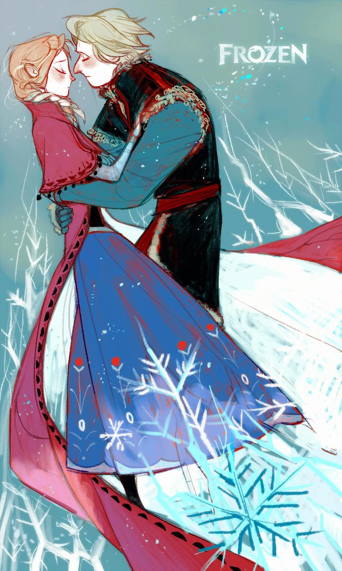 [Frozen]Kristoff/Anna by Wavesheep