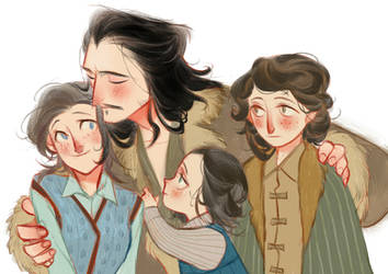 [Hobbit]Bard's family by Wavesheep