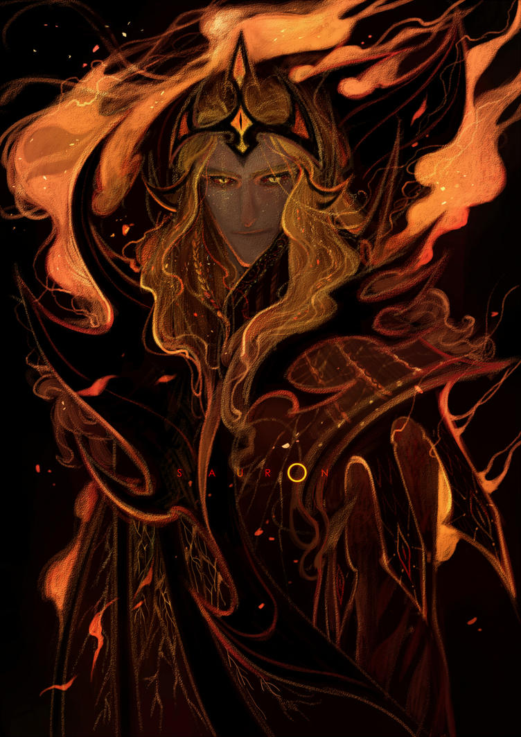 [Silmarillion]Sauron by Wavesheep