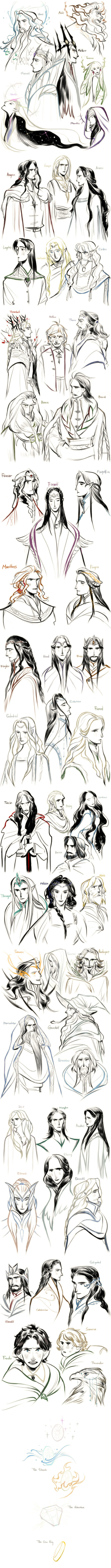 [Tolkien]54 characters by Wavesheep
