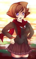 Schoolgirl With Scarf by Lennal