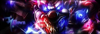 Evil clown by Deneky