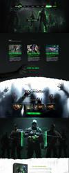 Biohazard concept webinterface by Deneky