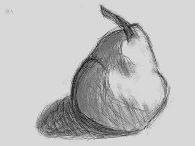 Shaded Pear (Created With DSi Art Application) By Dooght