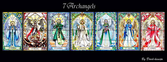 stained glass 7 archangels (2017)
