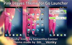 Pink Leaves theme for Go Launcher app by Im__Venky