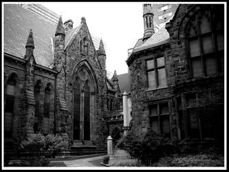 gothic building, philadelphia by raverqueenage