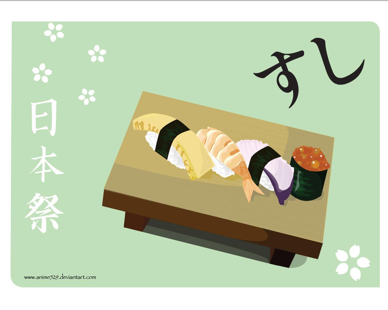 Sushi Wallpaper Anime