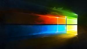 Windows 10 Liquify Colour Logo Wallpaper