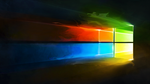 Windows 10 Liquify Colour Logo Wallpaper