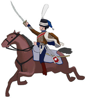 French Hussar Officer