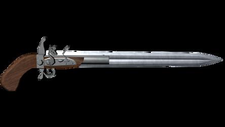 Gun Knife 3D model