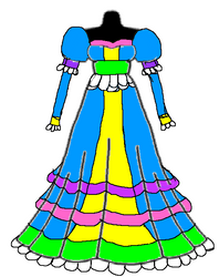 Princess Magenta's actual dress by 2001KaliBradshaw