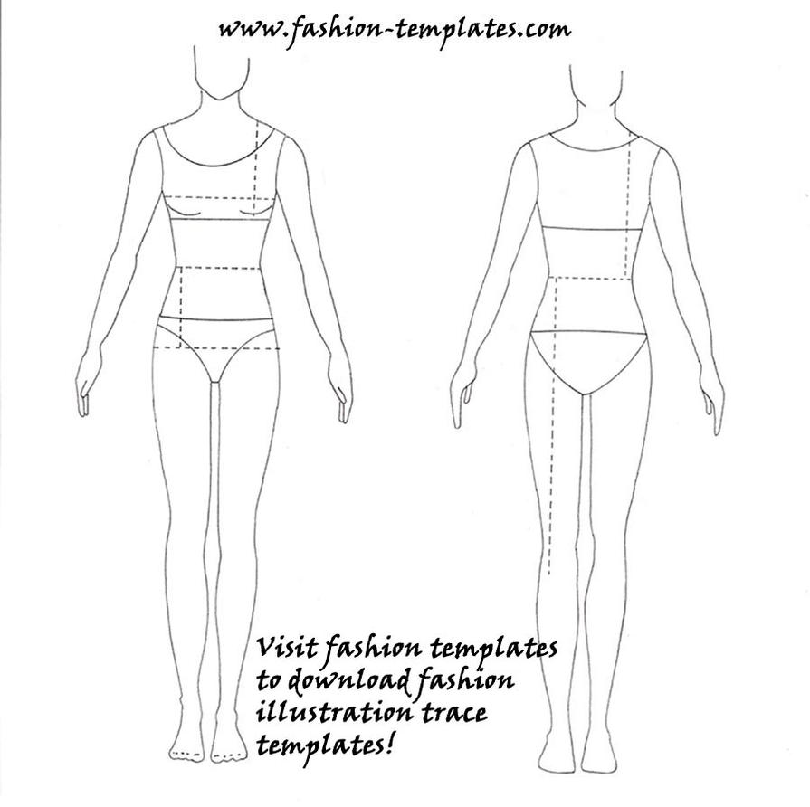 blank fashion body templates coloring pages