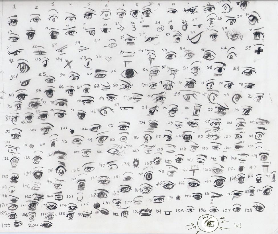 200 Anime Manga Eyes By Queen Elle On DeviantArt