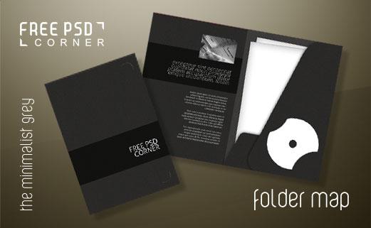 PSD - Folder Map PSD by freepsdcorner