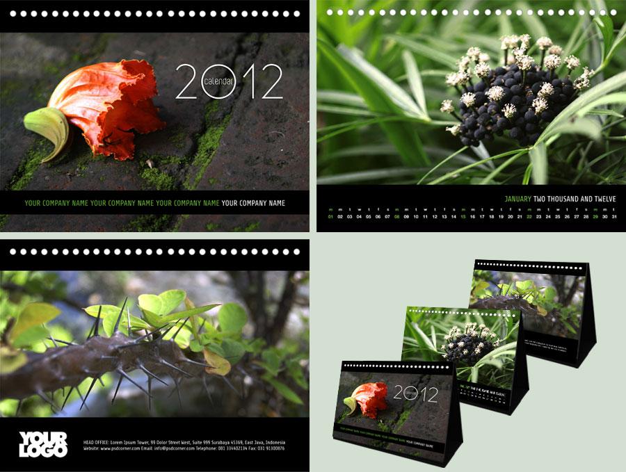 Free Calendar - Close Up Plant by freepsdcorner