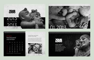 Calendar 2013 - Black Sculpture