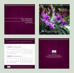 Calendar 2013 - Purple Orchids