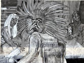 The Scream--The Brass Key Preliminary Sketch