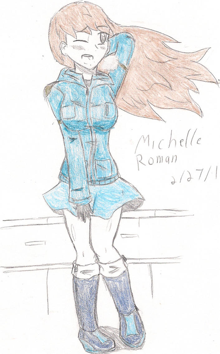Windy day for Michelle...:WIP:. by ProtoScene