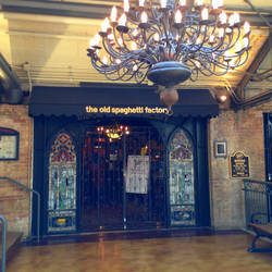 The doors to The Old Spaghetti Factory by rainrivermusic