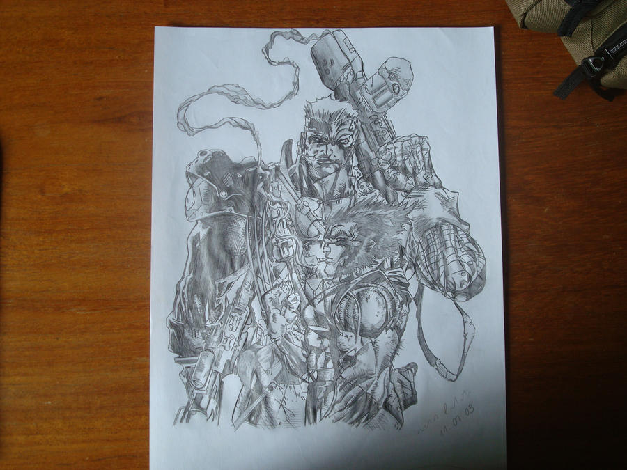 Cable and Wolverine by gordeenhooow