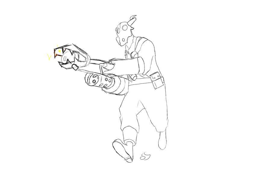 Team fortress 2 fanart pyro 02 by rubioart on deviantart for Team fortress 2 coloring pages