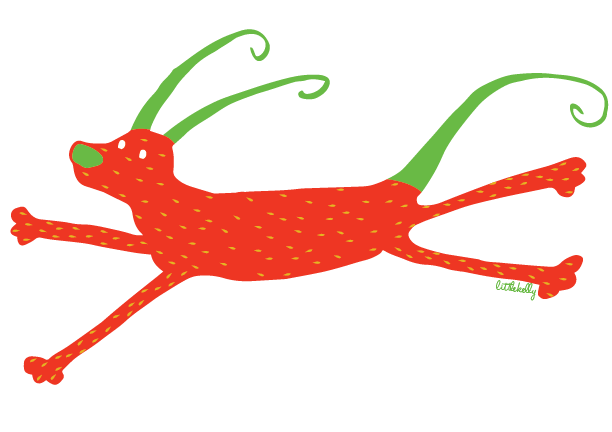 Strawberry Gelert by littlekelly